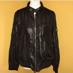 Members Only faux leather black jacket sz.…
